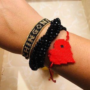 Handmade Bracelets~ Chingona ~ Red Heart ❤️Tassel